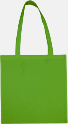 Ljusgrön (långa handtag) Tygpåsar med långa eller korta handtag i flera färger med eget reklamtryck