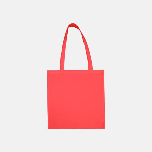 Dubarry Pink (långa handtag) Tygpåsar med långa eller korta handtag i flera färger med eget reklamtryck