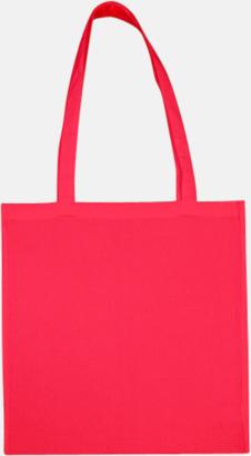 Rouge Red (långa handtag) Tygpåsar med långa eller korta handtag i flera färger med eget reklamtryck