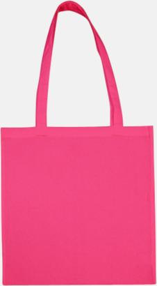 Pink (långa handtag) Tygpåsar med långa eller korta handtag i flera färger med eget reklamtryck