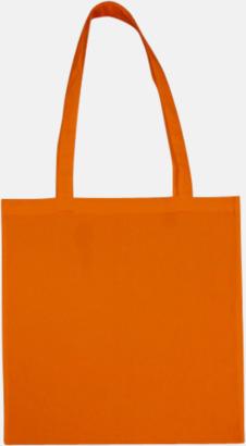 Tangerine (långa handtag) Tygpåsar med långa eller korta handtag i flera färger med eget reklamtryck