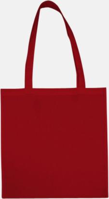 Röd (långa handtag) Tygpåsar med långa eller korta handtag i flera färger med eget reklamtryck