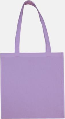 Lavender (långa handtag) Tygpåsar med långa eller korta handtag i flera färger med eget reklamtryck