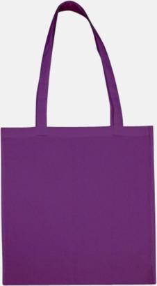 Lilac (långa handtag) Tygpåsar med långa eller korta handtag i flera färger med eget reklamtryck