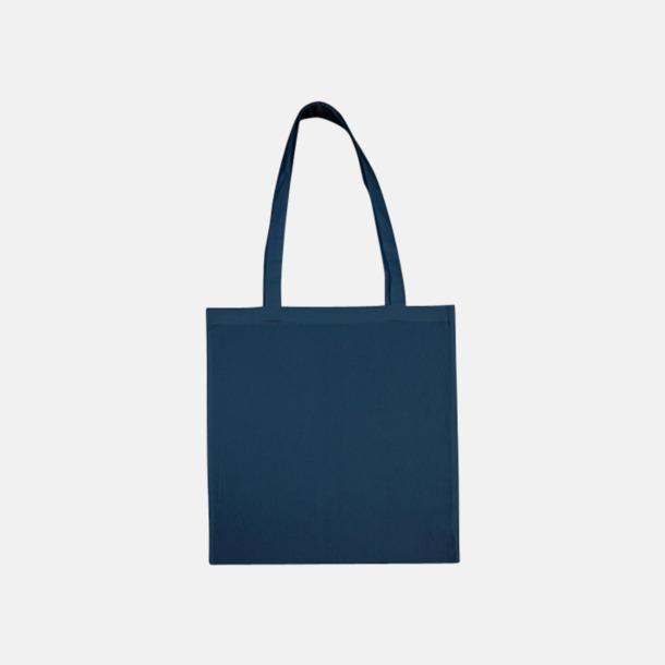 Indigo Blue (långa handtag) Tygpåsar med långa eller korta handtag i flera färger med eget reklamtryck