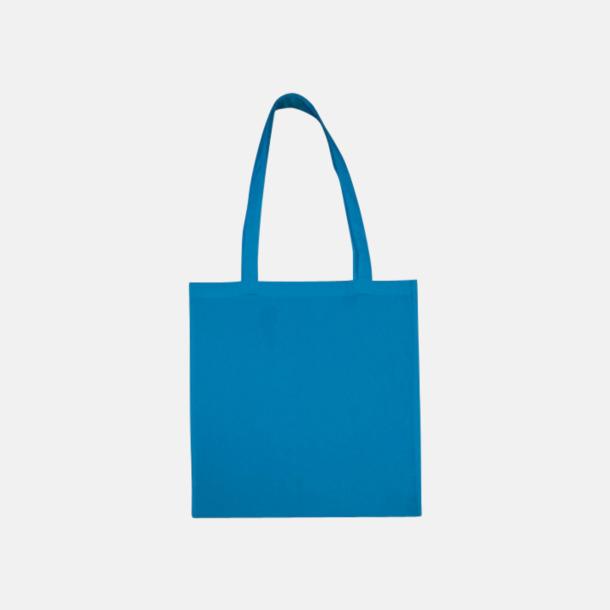 Mid Blue (långa handtag) Tygpåsar med långa eller korta handtag i flera färger med eget reklamtryck