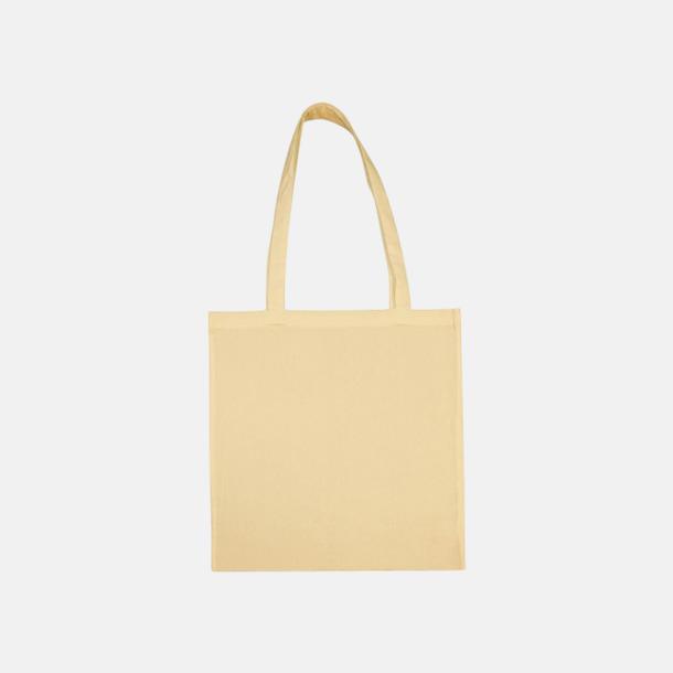 Vanilla Custard (långa handtag) Tygpåsar med långa eller korta handtag i flera färger med eget reklamtryck