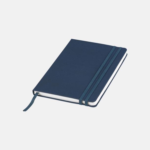Blå Denimfärgade A5-notisböcker med reklamtryck