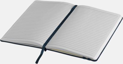 Denimfärgade A5-notisböcker med reklamtryck