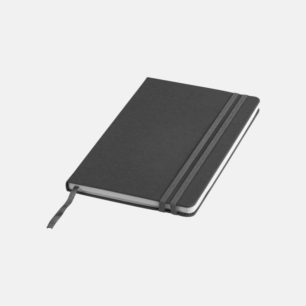 Grå Denimfärgade A5-notisböcker med reklamtryck