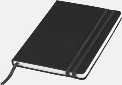 Svart Denimfärgade A5-notisböcker med reklamtryck