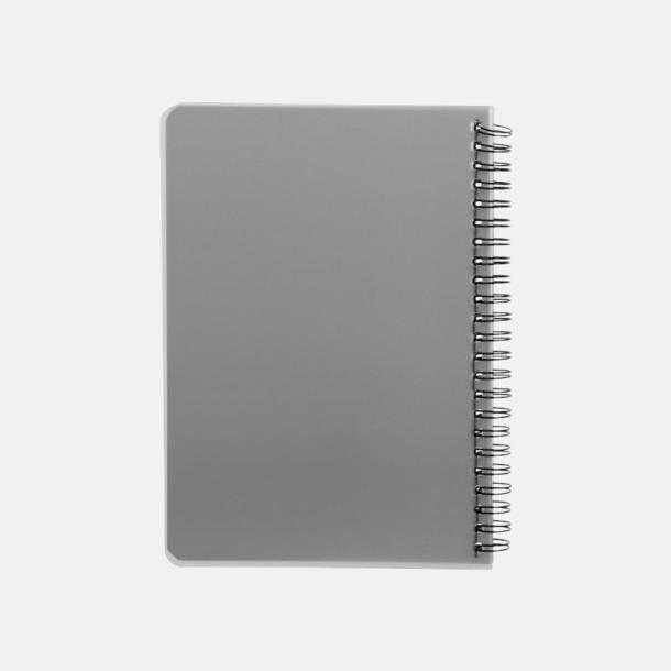 Baksida A6 & A5 spiral anteckningsböcker med reklamtryck