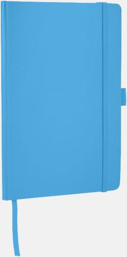 Ljusblå Anteckningsbok med flexibel baksida med reklamtryck