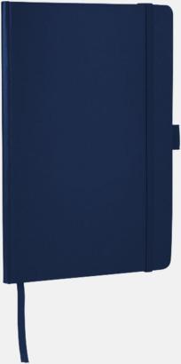 Marinblå Anteckningsbok med flexibel baksida med reklamtryck