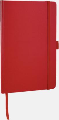 Röd Anteckningsbok med flexibel baksida med reklamtryck