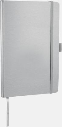 Silver Anteckningsbok med flexibel baksida med reklamtryck