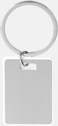 Kvadratiska nyckelringar med reklamtryck