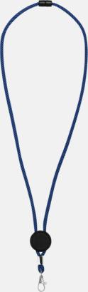 Kungsnblå/Svart Logoband med platta med egen logga