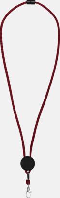 Röd/Svart Logoband med platta med egen logga
