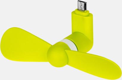 Limegrön Minifläktar med reklamtryck