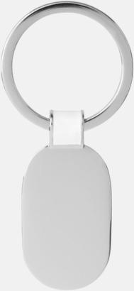 Ovala metallnyckelringar med reklamtryck