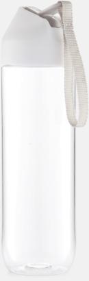 Vit/Grå Vattenflaskor i tritan med reklamtryck