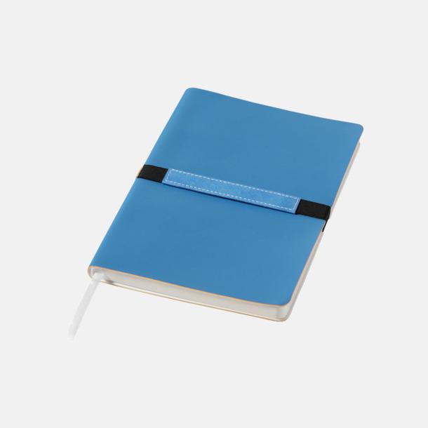 Blå A5-anteckningsböcker med reklamtryck