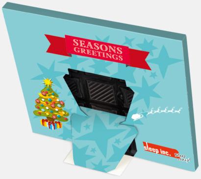 Baksida Adventskalender med Ritter sport choklad - med reklamtryck