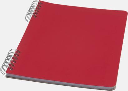 Röd Unika A5-spiralblock med reklamtryck