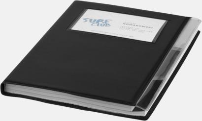 Anteckningsböcker med foldrar med reklamtryck