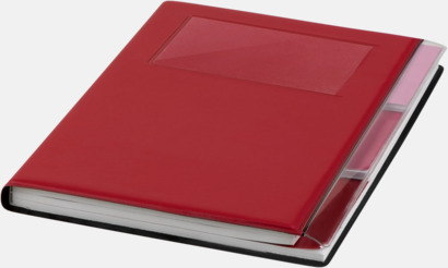 Röd Anteckningsböcker med foldrar med reklamtryck