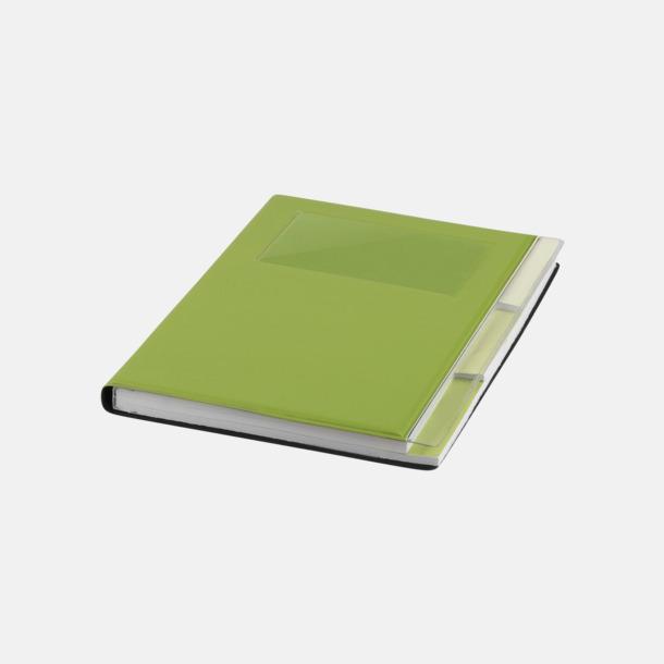 Limegrön Anteckningsböcker med foldrar med reklamtryck