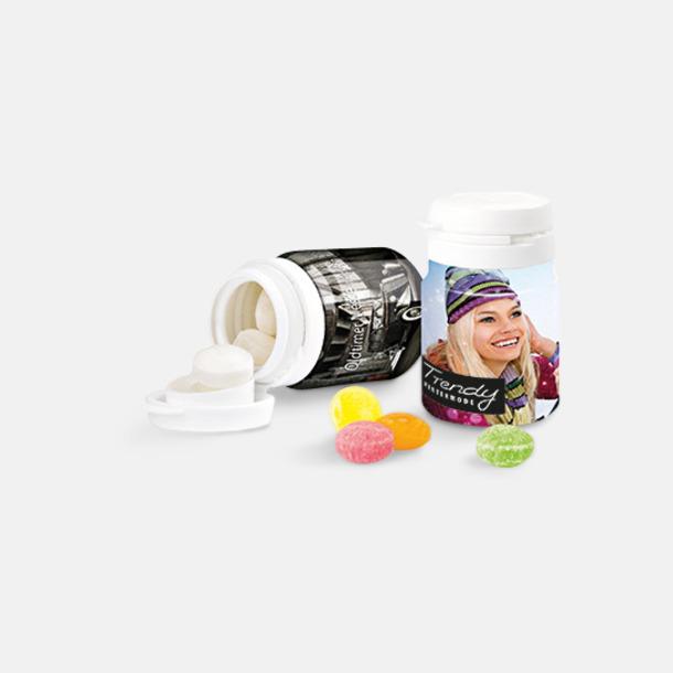 25 grams godis i plastburkar - med digitaltryck