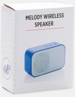 Presentförpackning Snygga högtalare med reklamtryck