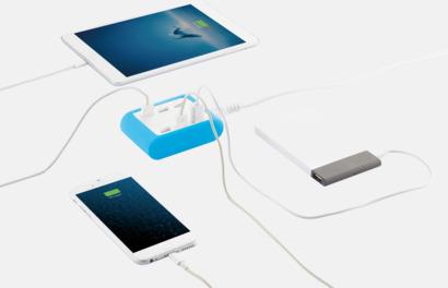 4.2A laddare med 6 USB-portar med reklamtryck