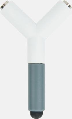 Vit / Grå Ljudsplitter & styluspennor med reklamtryck