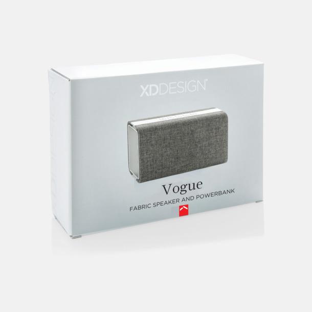 Presentförpackning Tygklädda högtalare & powerbank med reklamtryck