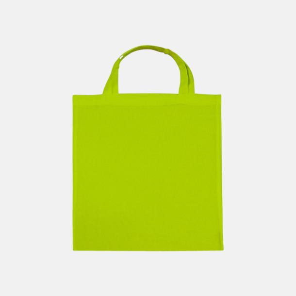 Lime (korta handtag) Tygpåsar med långa eller korta handtag i flera färger med eget reklamtryck