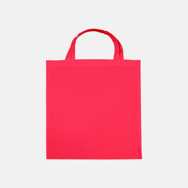 Rouge Red (korta handtag) Tygpåsar med långa eller korta handtag i flera färger med eget reklamtryck
