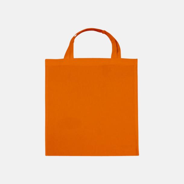 Tangerine (korta handtag) Tygpåsar med långa eller korta handtag i flera färger med eget reklamtryck