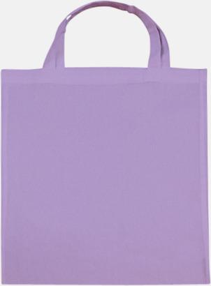 Lavender (korta handtag) Tygpåsar med långa eller korta handtag i flera färger med eget reklamtryck