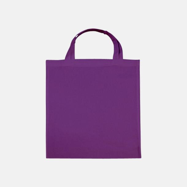 Lilac (korta handtag) Tygpåsar med långa eller korta handtag i flera färger med eget reklamtryck