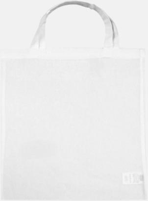 Snowwhite (korta handtag) Tygpåsar med långa eller korta handtag i flera färger med eget reklamtryck