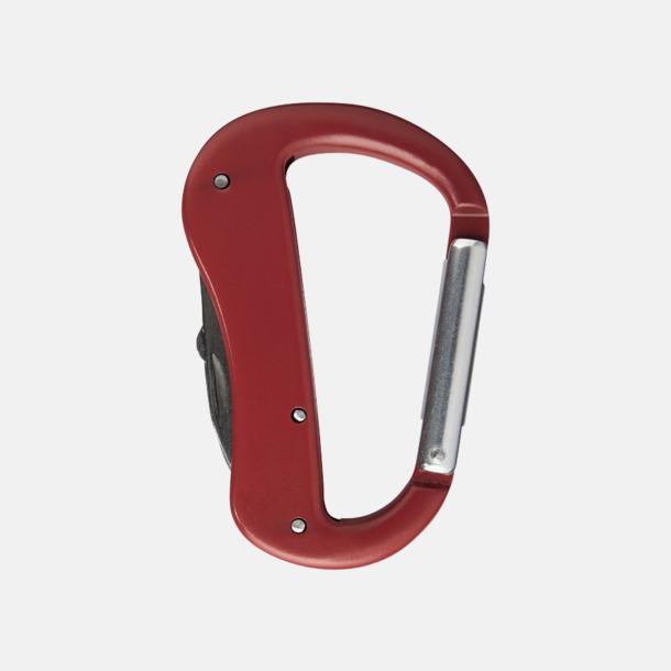Röd Karbinhake-formade fickknivar med reklamtryck