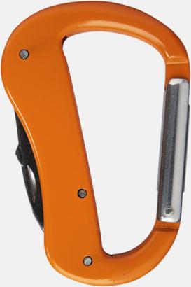 Orange Karbinhake-formade fickknivar med reklamtryck