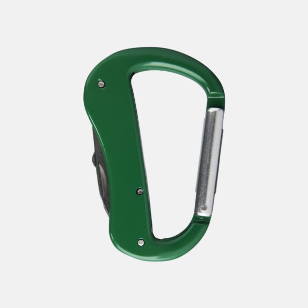 Grön Karbinhake-formade fickknivar med reklamtryck