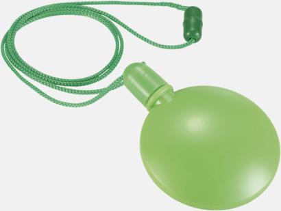 Limegrön Tom behållare för såpbubblor - med reklamtryck