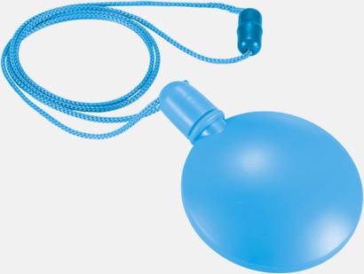 Blå Tom behållare för såpbubblor - med reklamtryck