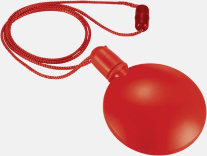 Röd Tom behållare för såpbubblor - med reklamtryck
