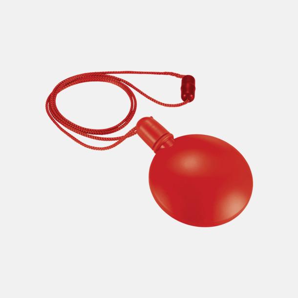 Röd Behållare med såpbubblor - med reklamtryck